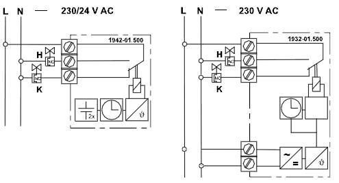 Термостат тип P Электронный комнатный термостат с часами, для исполнительных механизмов теплового типа.